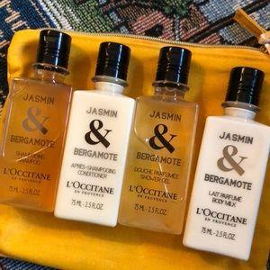 L'Occitane Jasmin & Bergamote Travel Set+Bag.
